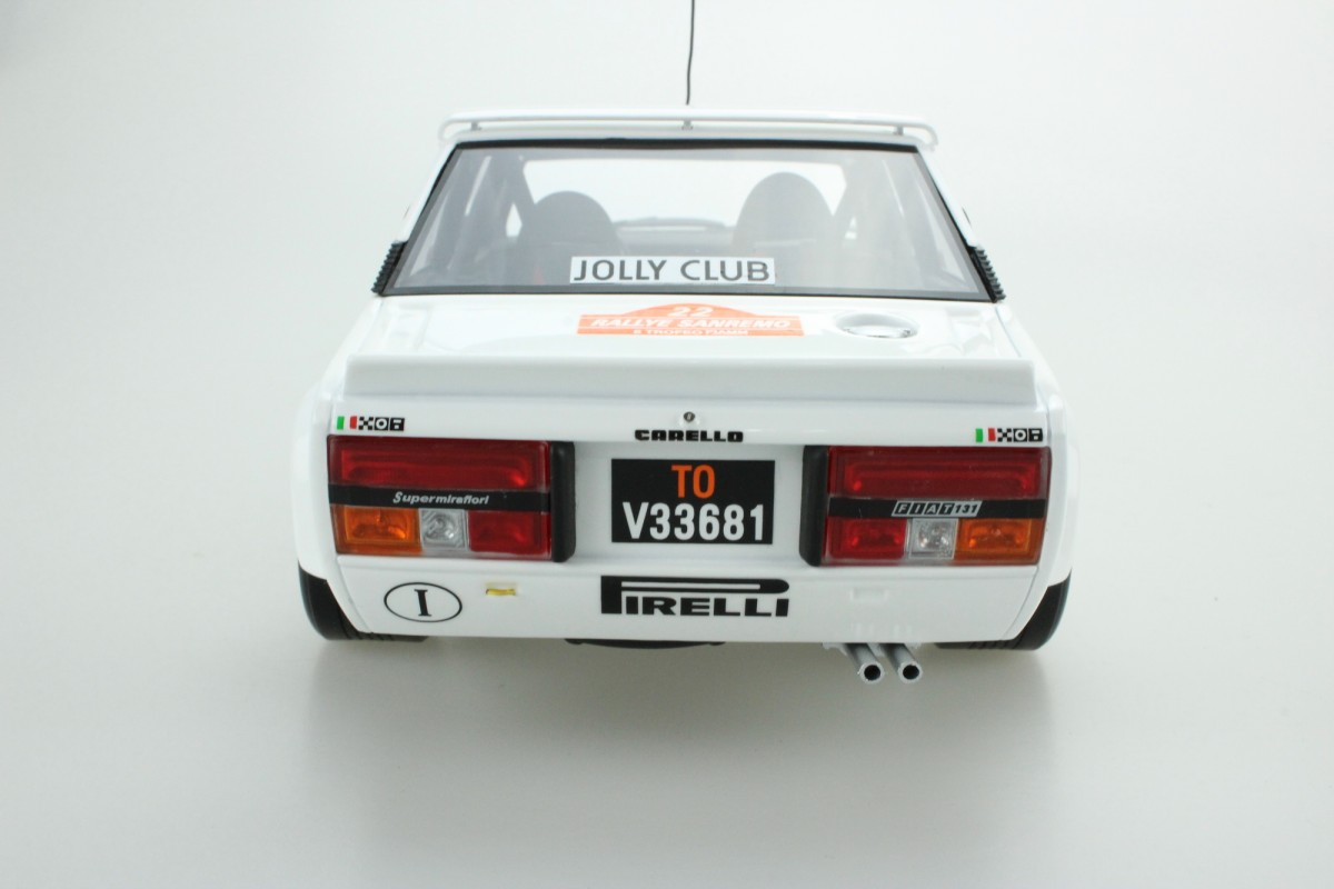 1:18 top marques Fiat 131 Abarth winner rally Sanremo Röhrl 1980