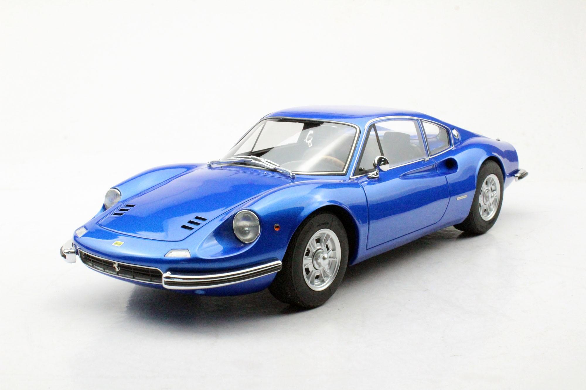 Top Marques Collectibles Ferrari Dino 206 GT, 1:12 blue | TM12-23C