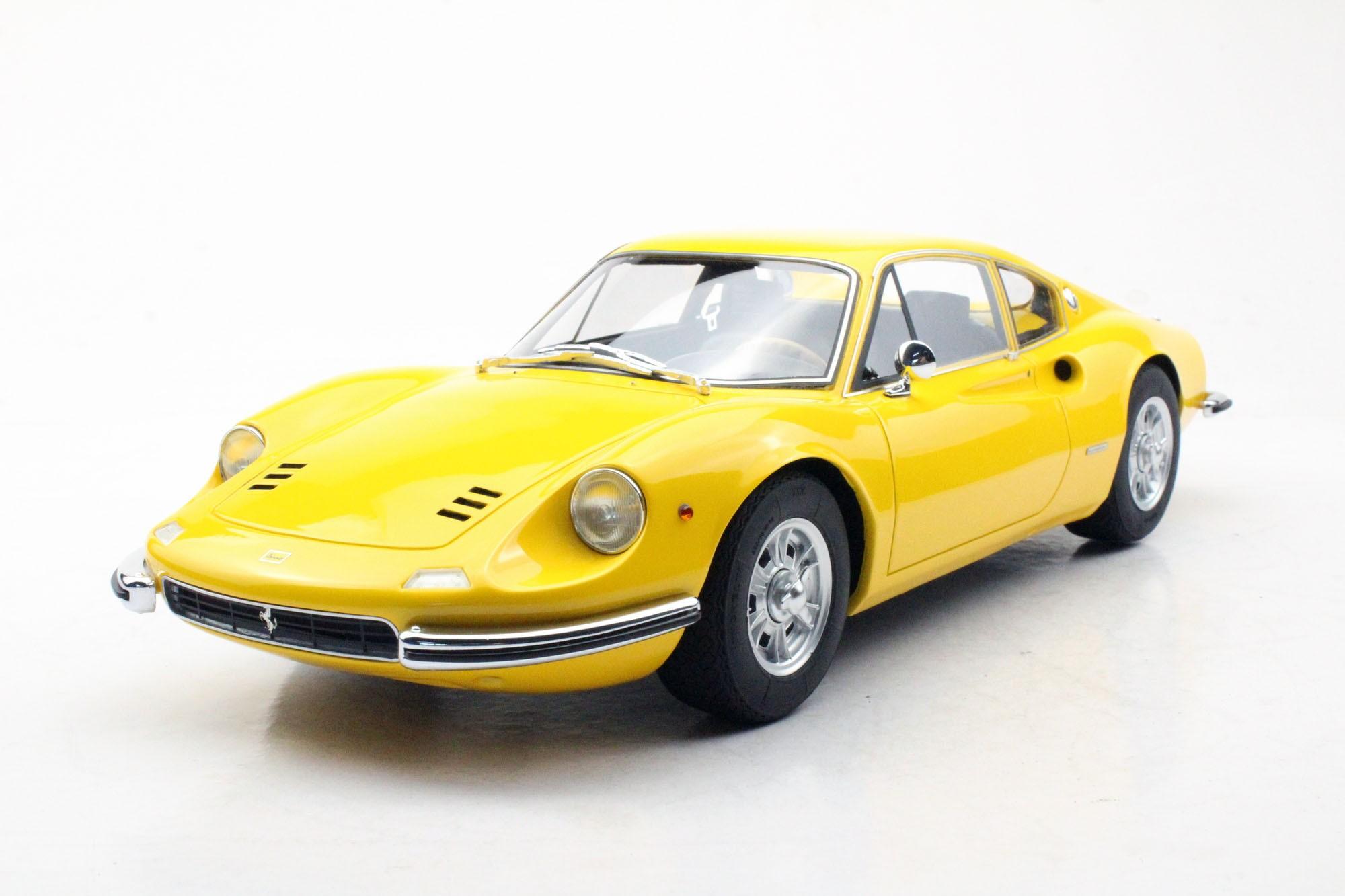 Top Marques Collectibles Ferrari Dino 206 Gt Pre Order 1 12 Yellow Tm12 23b