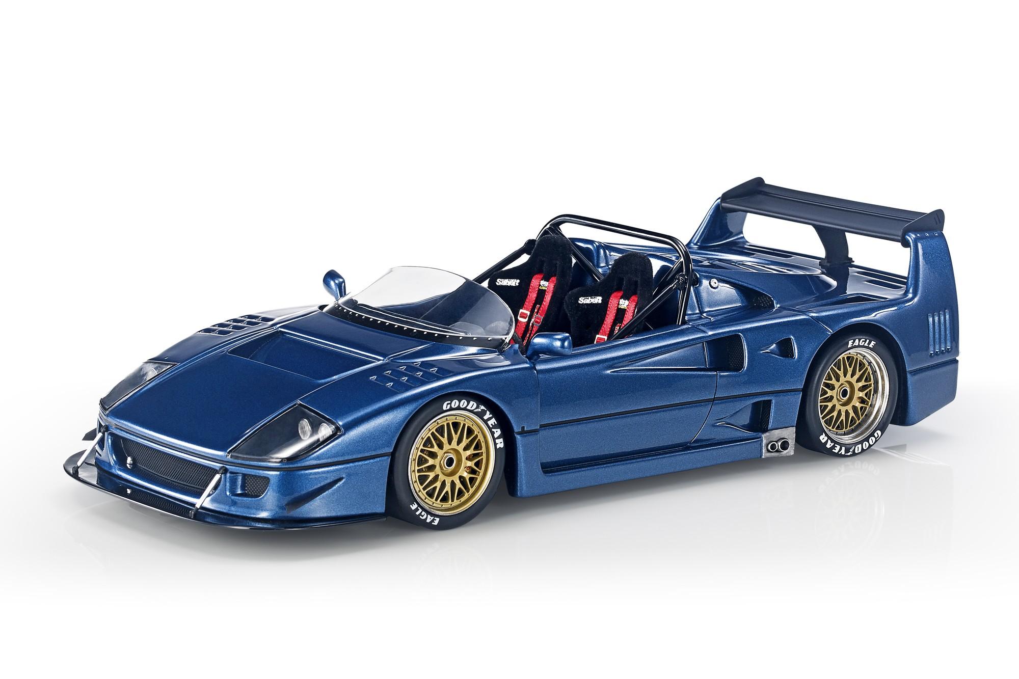 Top Marques Collectibles Ferrari F40 Lm Beurlys Barchetta 1 18 Blue Top68d