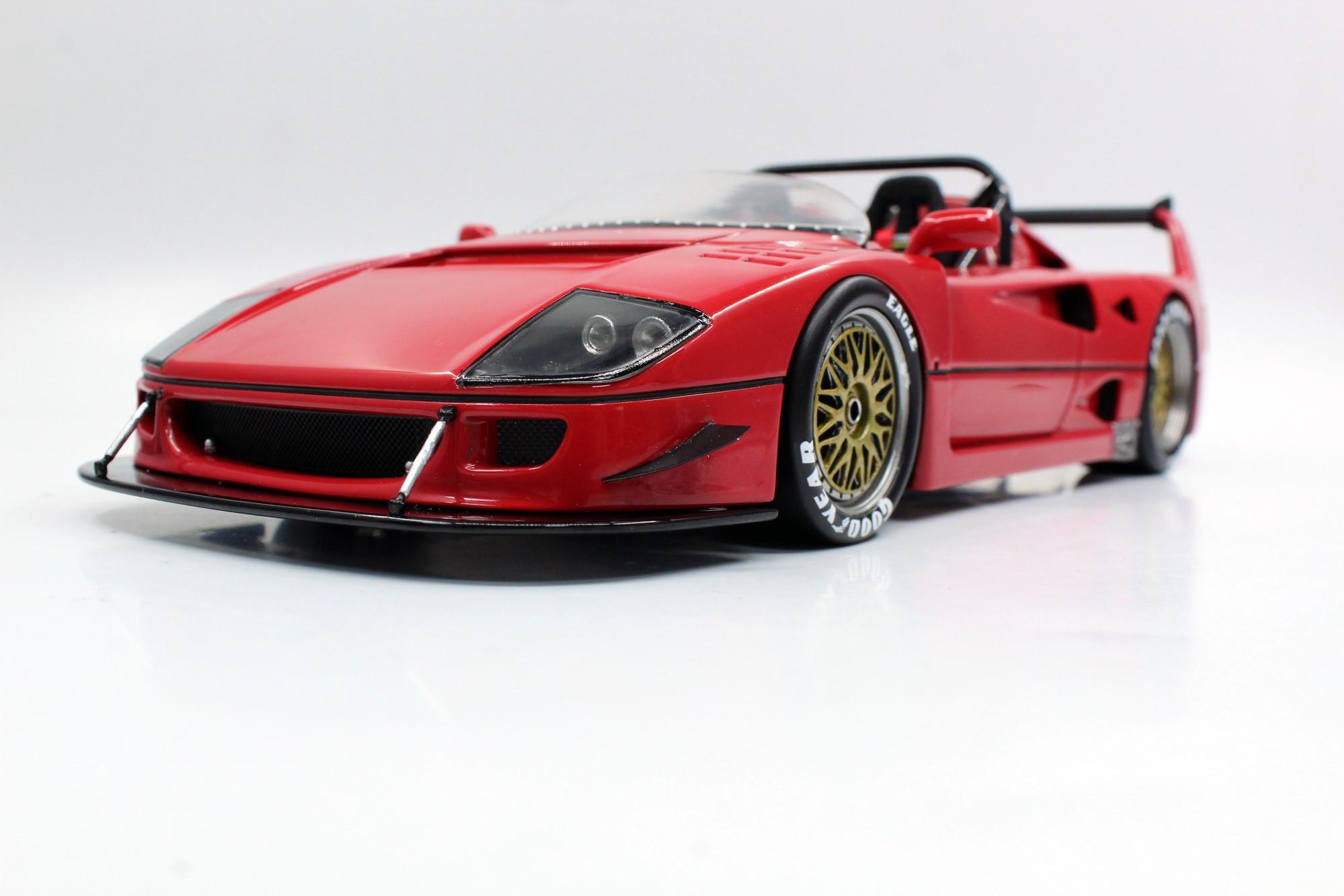 Top Marques Collectibles Ferrari F40 Lm Beurlys Barchetta 1 18 Red Top68b