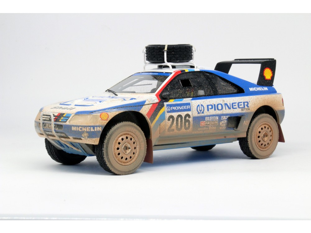 Peugeot 405 GT T-16 Paris Dakar 2nd place 1989 dirty