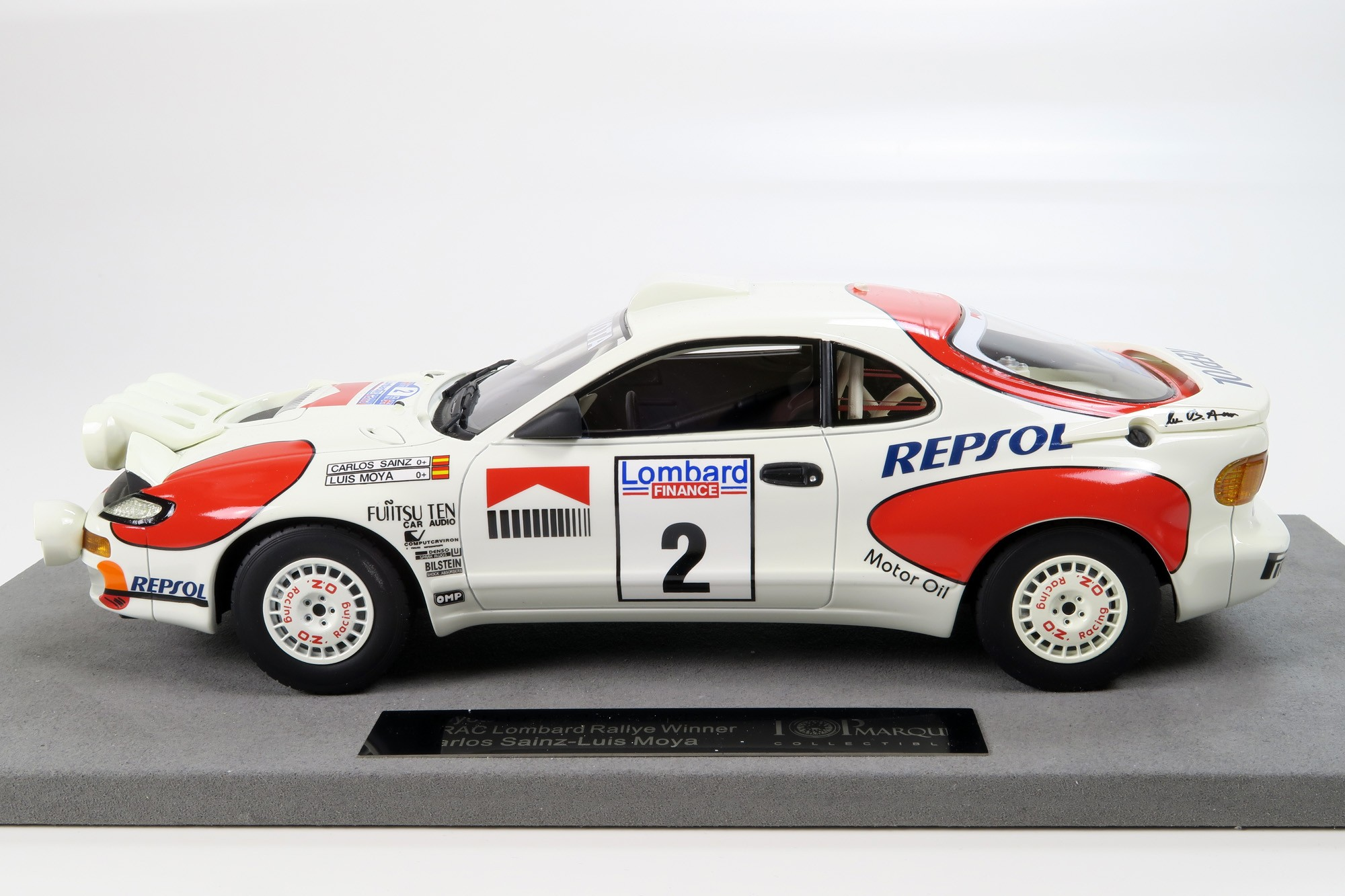 TOYOTA CELICA GT4 WINNER RAC RALLY 1992 TOP MARQUES COLLECTIBLES 1//18 TO