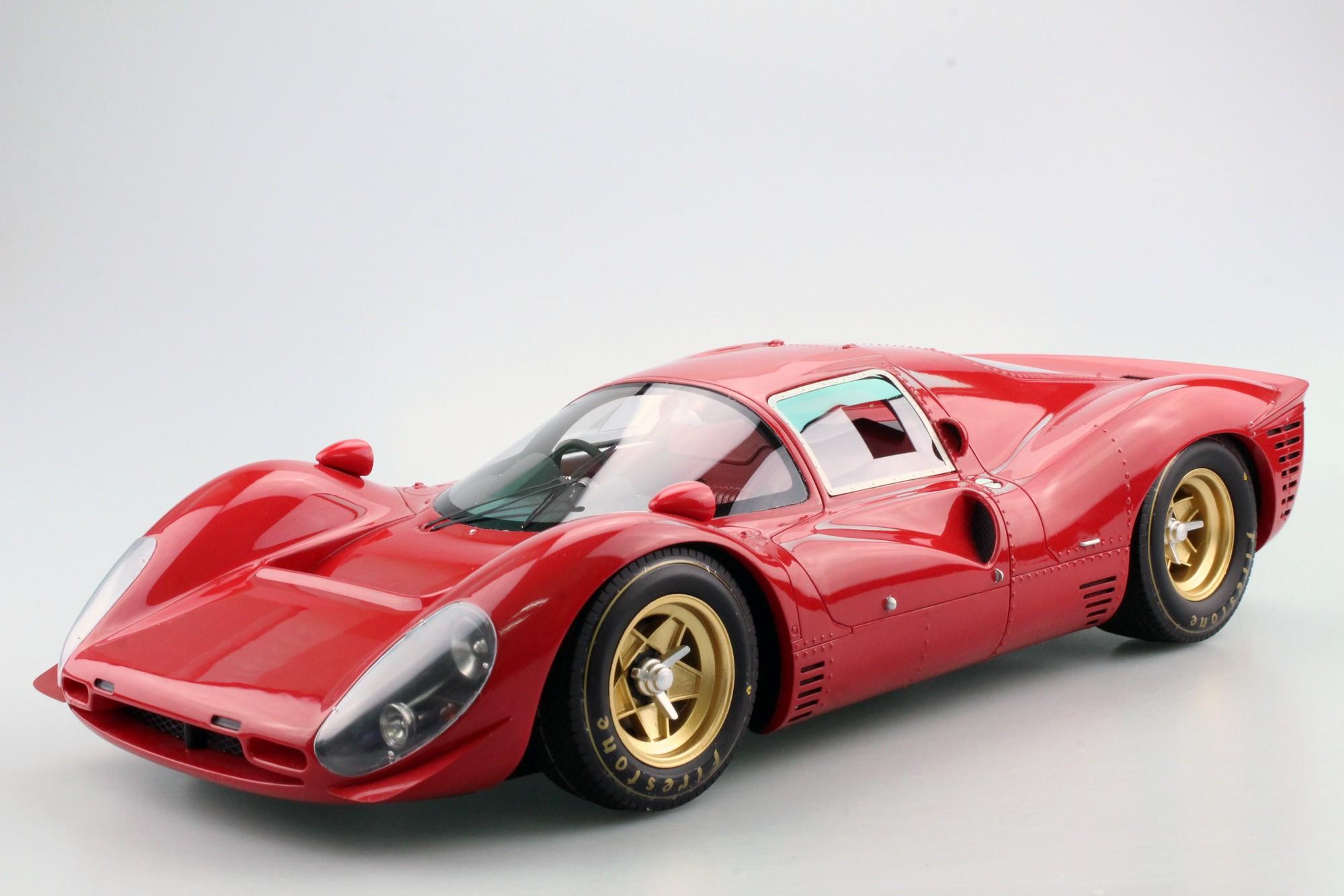 Gp Replicas Ferrari 330 P4 Plain Red Pre Order 1 12 Rot Gp12 09d