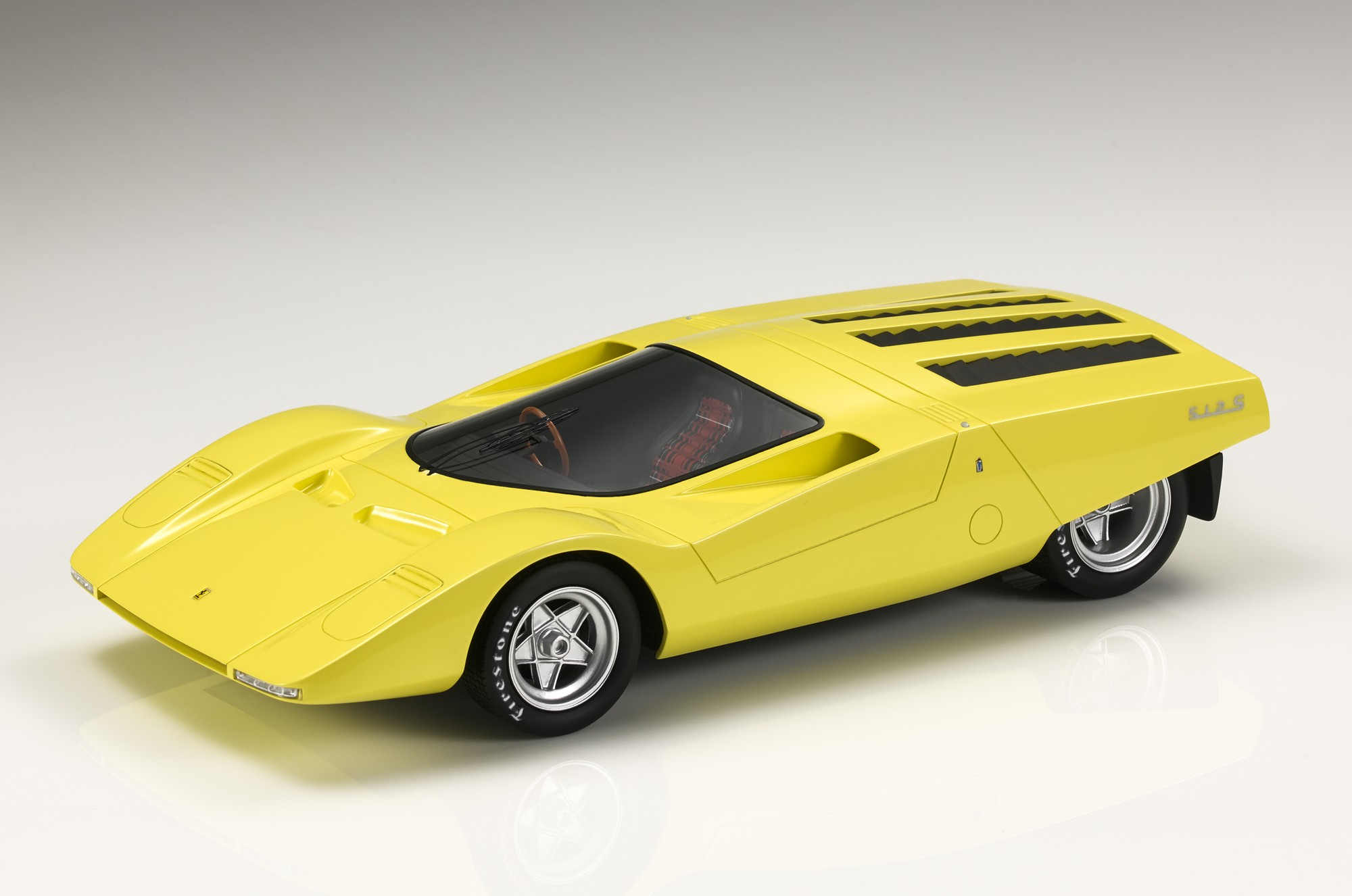 Top Marques Collectibles Ferrari 512s Berlinetta Concept 1 18 Yellow Top85a