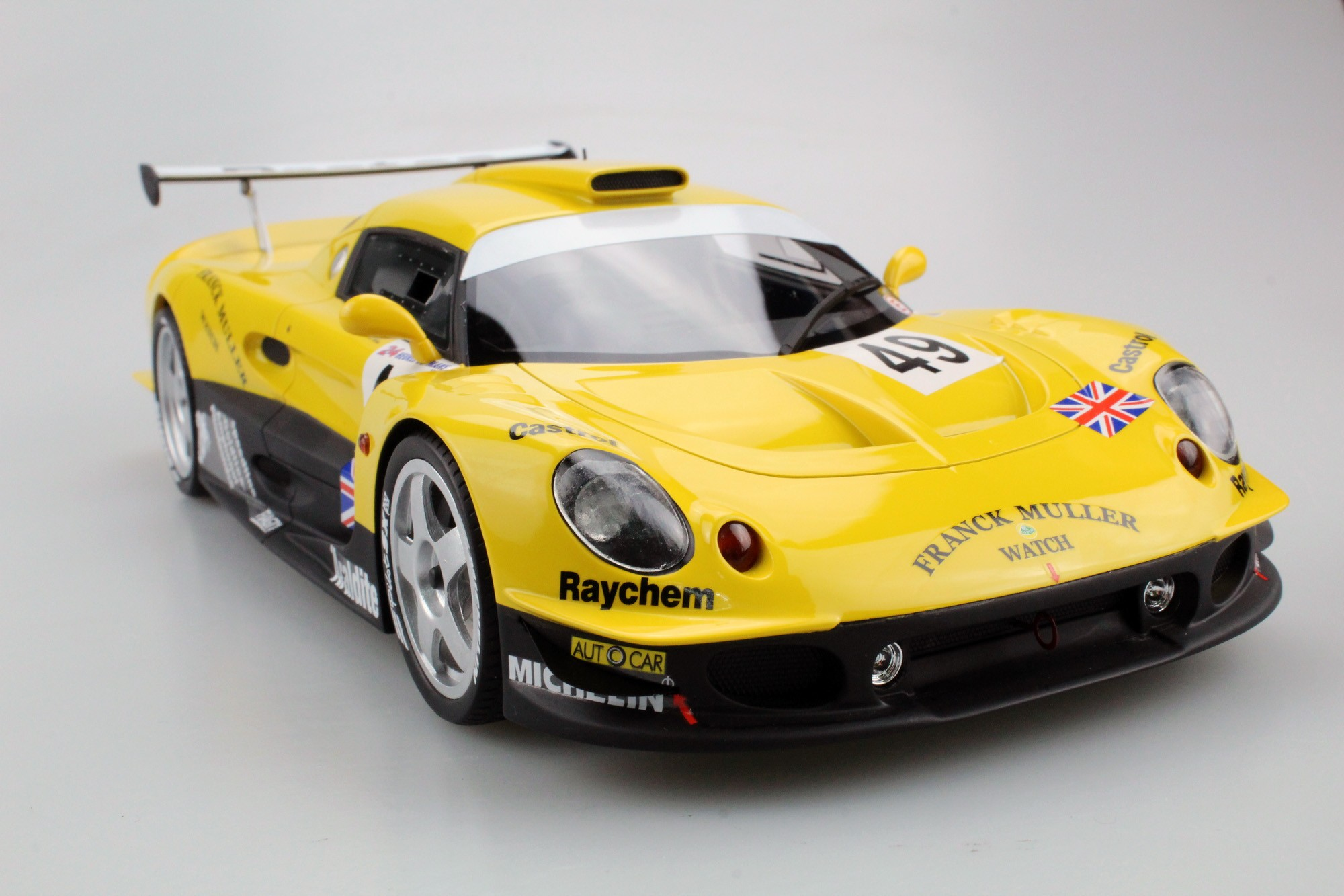 Top Marques Collectibles Lotus Elise GT1 Yellow/Green Racing (Pre-order), Jan Lammers, Mike ...