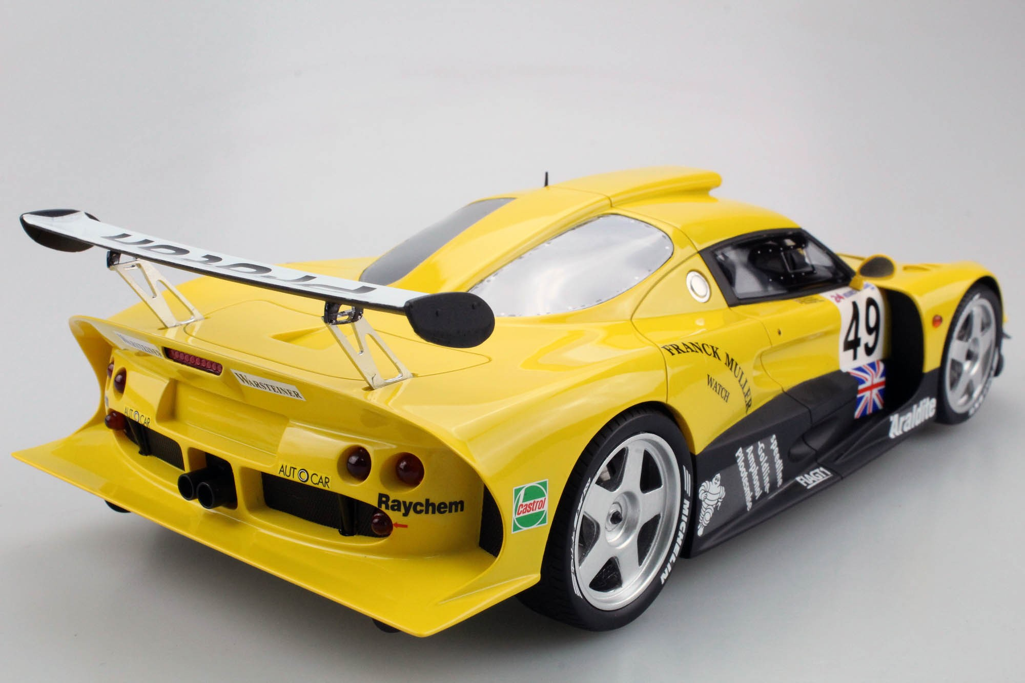 Top Marques Collectibles Lotus Elise Gt1 Yellow Green Racing Pre Order Jan Lammers Mike