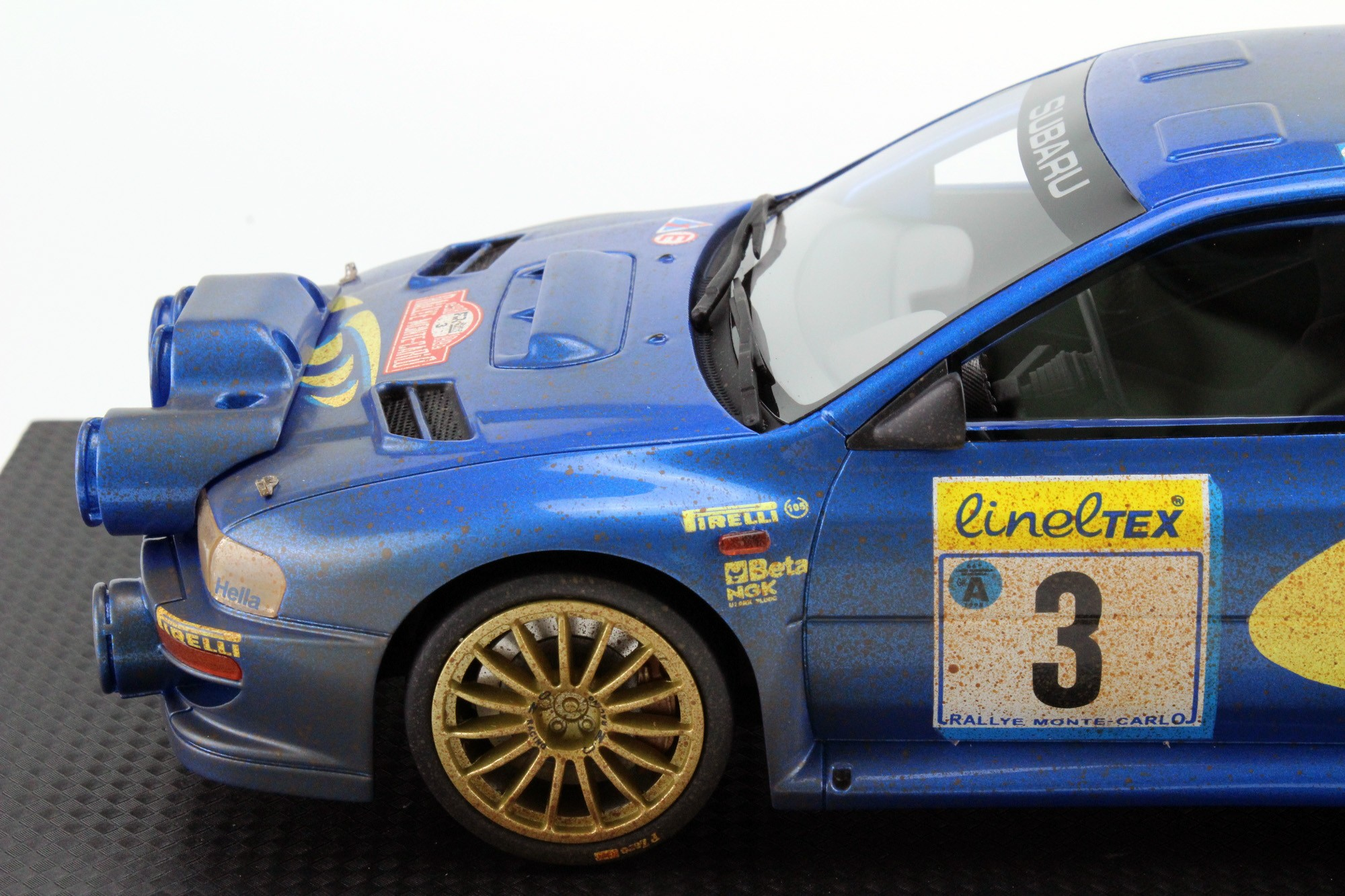 Top Marques Collectibles Subaru Impreza S4 WRC MC Rally 1998 mud ...